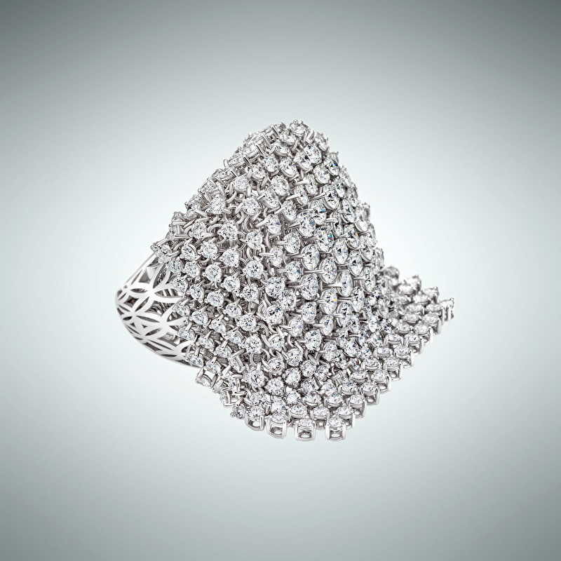 Diamond Mesh Ring - LeoPizzo SPA
