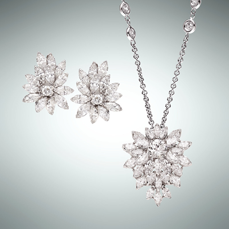 Crystal Earrings And Pendant - LeoPizzo SPA
