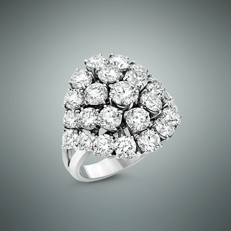 Basket Diamonds Ring - LeoPizzo SPA