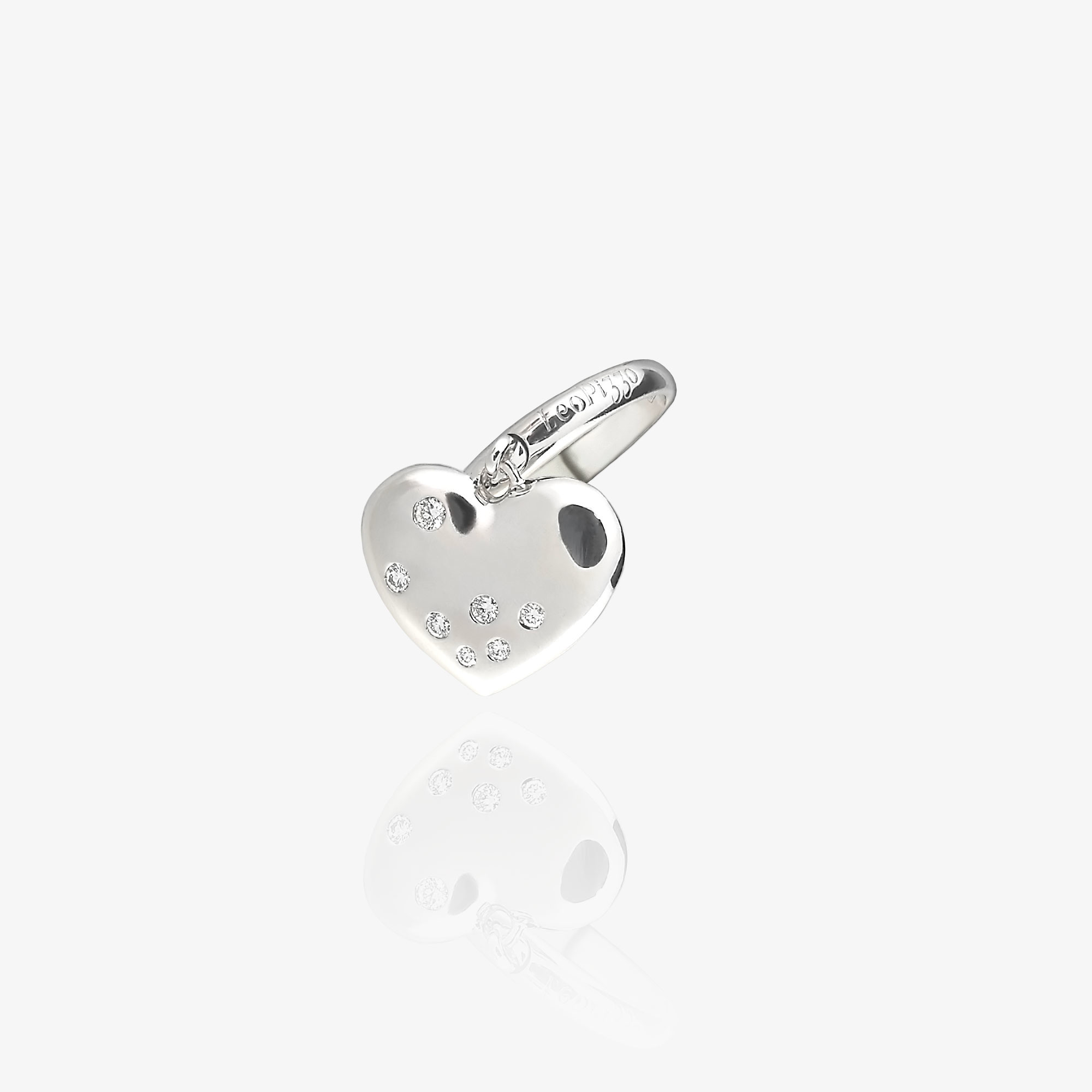 Ring with heart charm