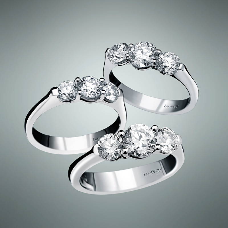 Three Stones Rings - LeoPizzo SPA