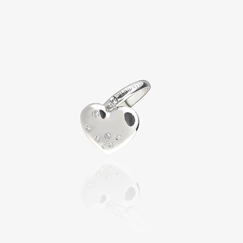 Ring With Heart Charm - LeoPizzo SPA