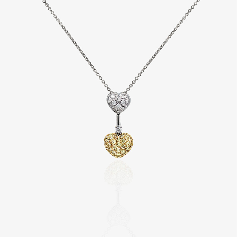 Hearts Pendant Necklace - LeoPizzo SPA