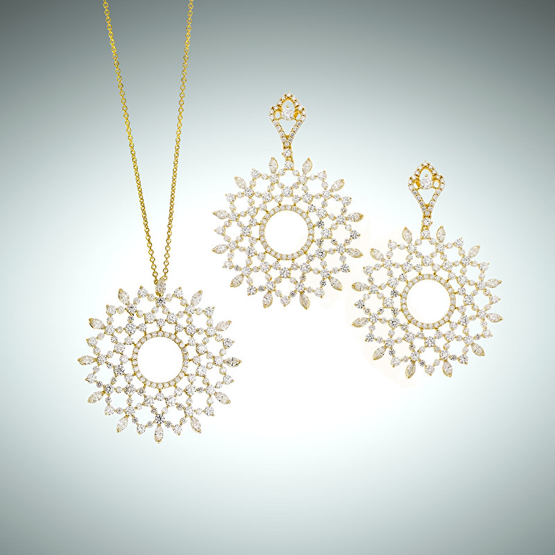 Merletti Earrings And Pendant - LeoPizzo SPA