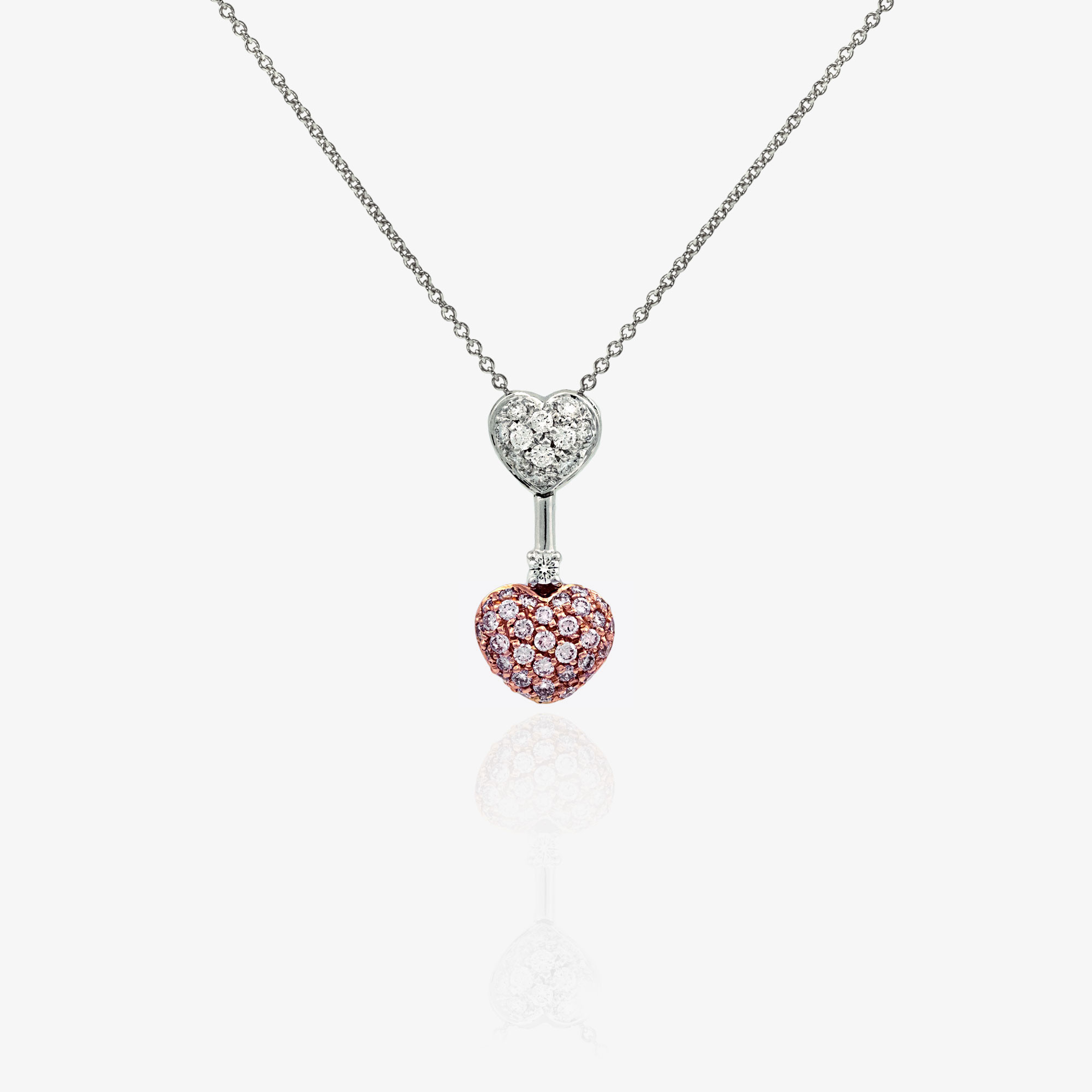 Heart pendants necklace