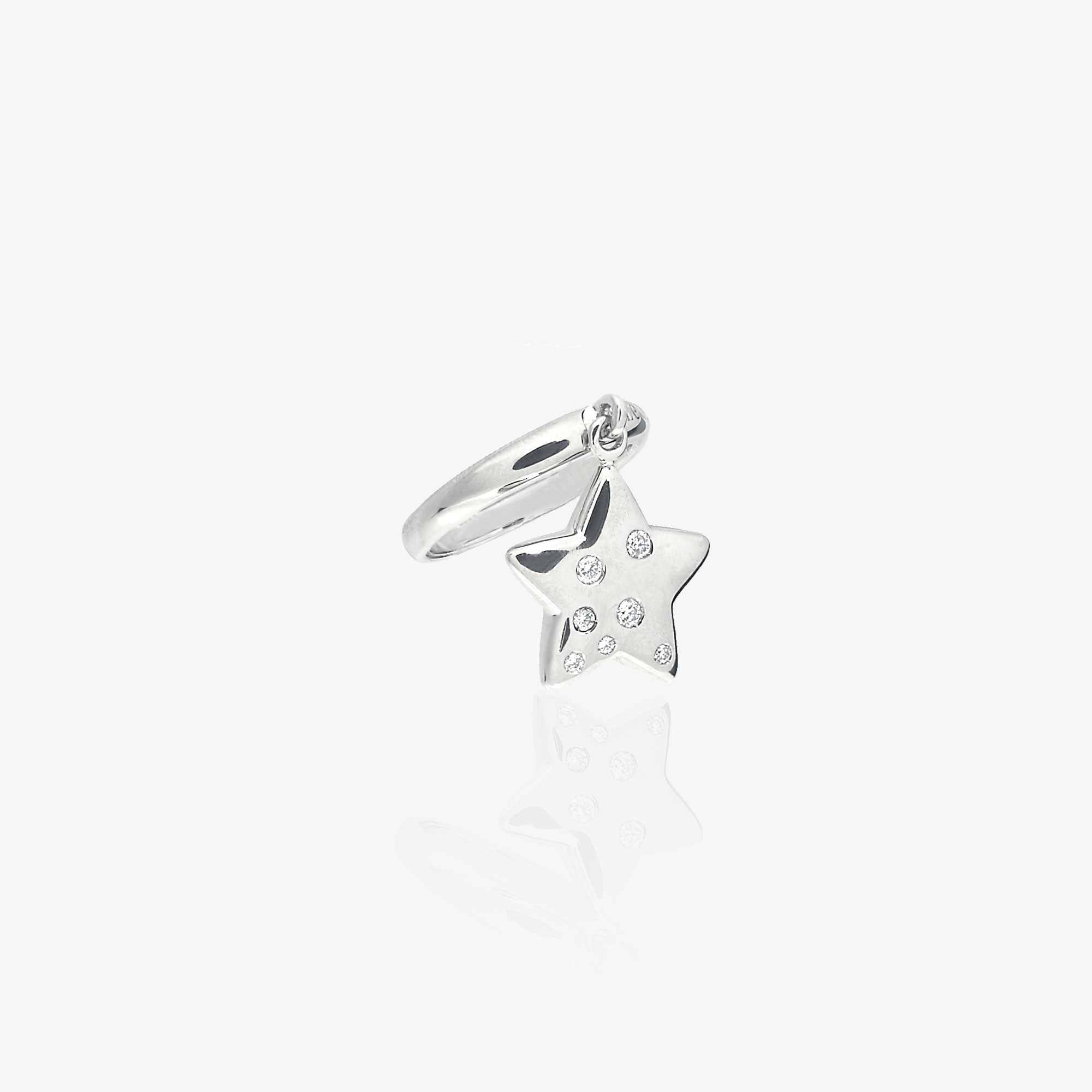 Ring with star charm