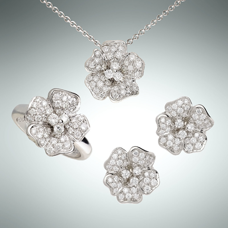Flora Set With Ring, Earrings And Pendant - LeoPizzo SPA