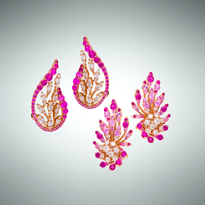 Peach Flowers Earrings - LeoPizzo SPA