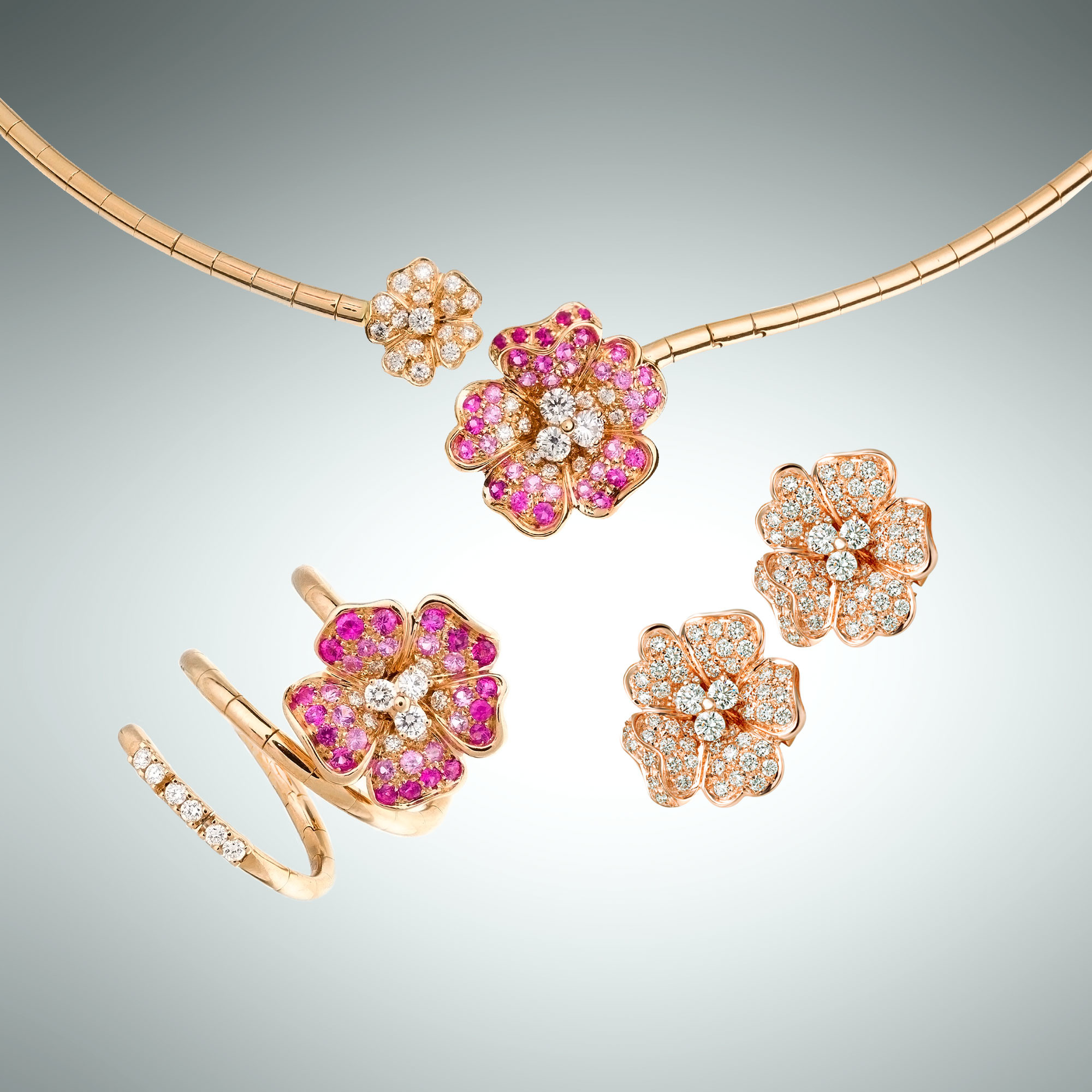 Flora Ring, Necklace and Earrings