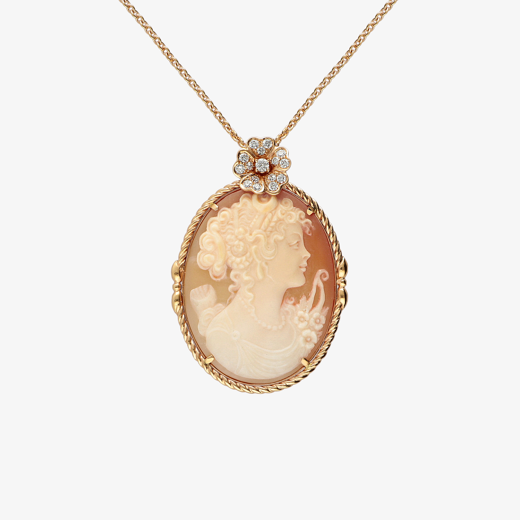 Young woman cameo
