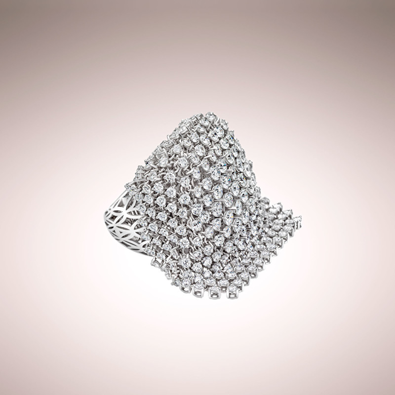Diamonds Cascade Ring - LeoPizzo SPA