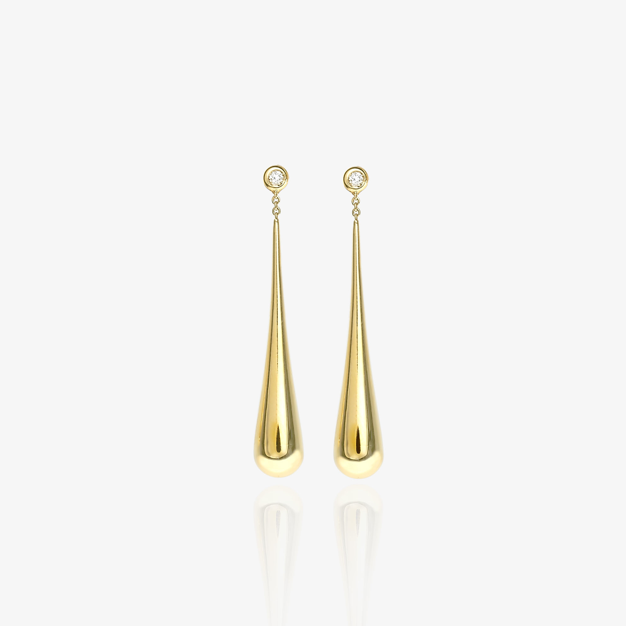 Drops of gold earrings