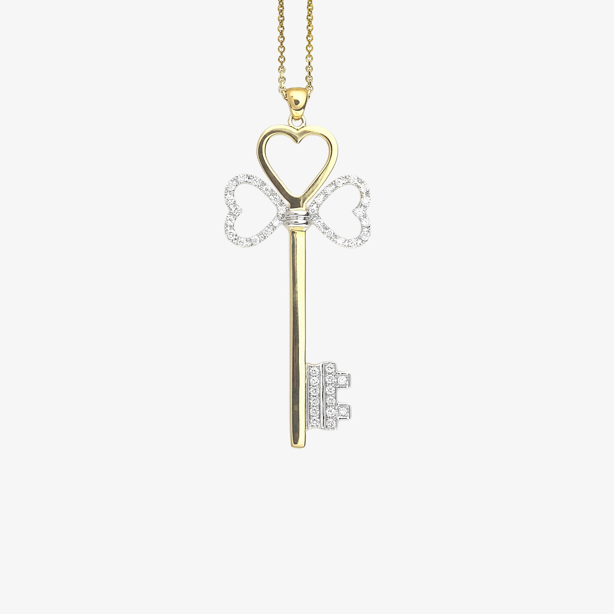 Hearts-key pendant