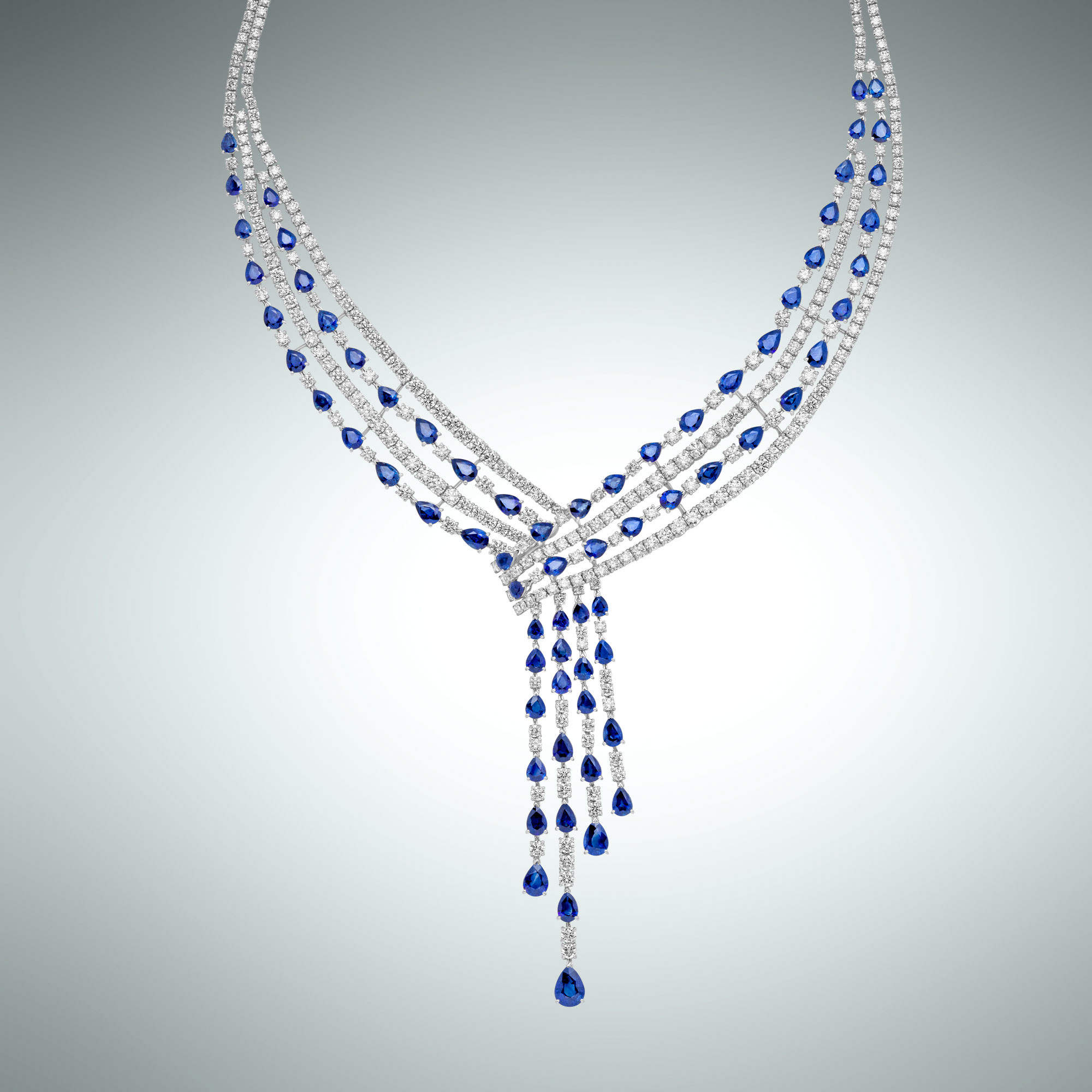 Sapphires fall collier