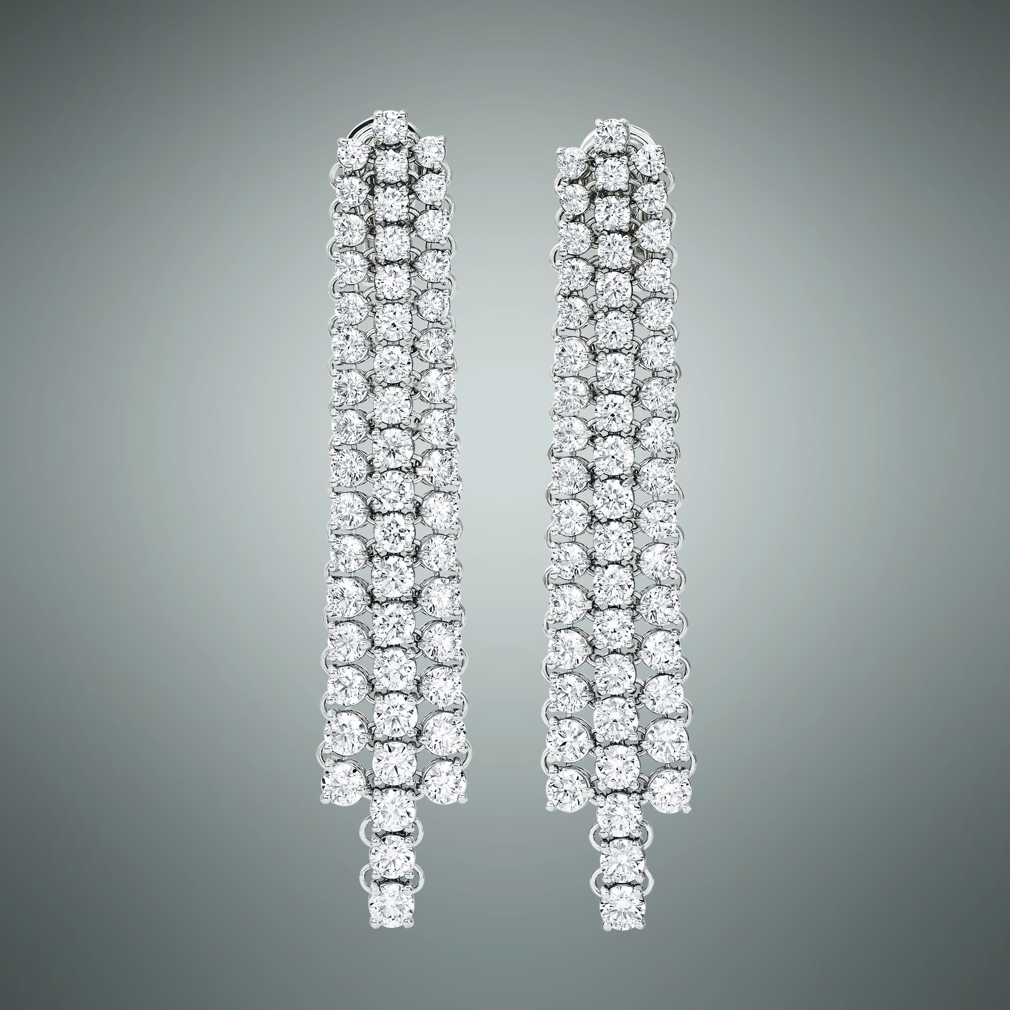 Diamonds cascade earrings